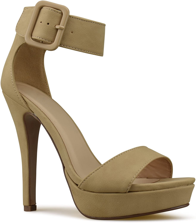 Premier Standard Women's Strappy Chunky Block High Heel - Formal, Wedding, Party Comfort Classic Platform Pump