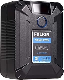 SONGING FXLION Nano Two 98WH Tiny V Mount/V Lock Battery with Type C, D tap, USB A, Micro USB for Cameras, Camcorders,Large LED Lights, Monitors, MacBook and Smartphone