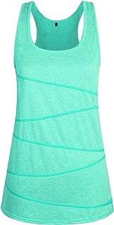 ZKHOECR Women Round Neck Long Sleeve Yoga Top Contrast Color Sport Running Shirt