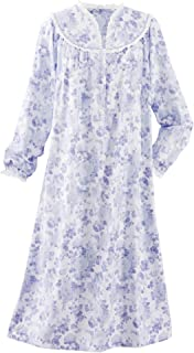 Dainty Floral Flannel Gown