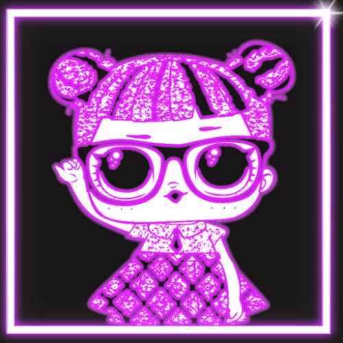 Draw Neon Glow Dolls Coloring Book