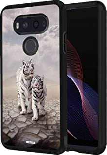 LG G6 Case, AIRWEE Slim Shockproof Silicone TPU Back Protective Cover Case for LG G6 2017 Release,Two The Lovely White Tiger