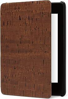 Amazon Kindle Paperwhite (第10世代) 用 プレミアム ヴィーガンレザーカバー ブラウン