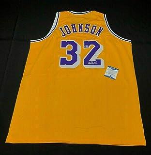 Magic Johnson Autographed Jersey -  HOF  MVP BAS I56761 - Beckett  Authentication - Autographed cd88e45e8