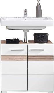 Trendteam 133630196 Set One - Mueble para debajo de lavabo Mueble base Skin Gloss roble San Remo claro parte frontal en...