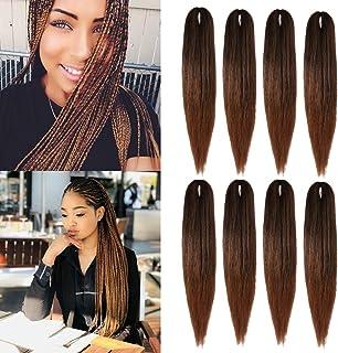 (55,8 cm, 8 sztuk) Hair Braid Pre Stretched Plecione włosy Przedłużanie włosów EZ Braid Niska temperatura Włókna syntetycz...