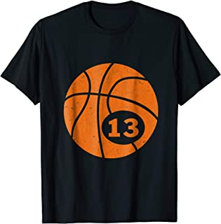 Basketball Player Jersey Number 13 Thirteen Graphic T-Shirt