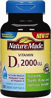 Nature Made Vitamin D3 2000iu 320 Ct. Soft Gels (Packaging May Vary)