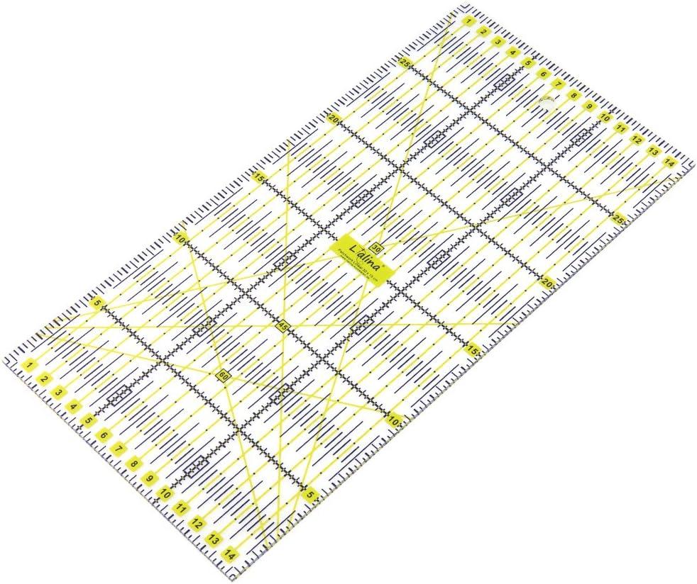 Fai da Te Qualting Trasparente 15x30 cm Sartoria Lialina/® Righello Universale in Plastica per Patchwork