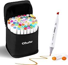 Rotuladores de dibujo de doble punta con tinta a base de alcohol Ohuhu. 60 colores seleccionados para ilustraciones, dibujos animados, cómics de manga, etc