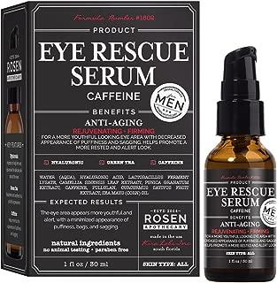 Rosen Apothecary Men's Eye Rescue Serum for Youthful Looking Eye Area 1oz/30ml