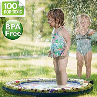 Splash Pad 2019 Enhanced Durable PVC 100cm Garden Sprinkle Splash Play Mat Water Spray Toy Kids Baby Pool Pad Summer Fun Beach Outdoor Lawn Sprinkler Cushion