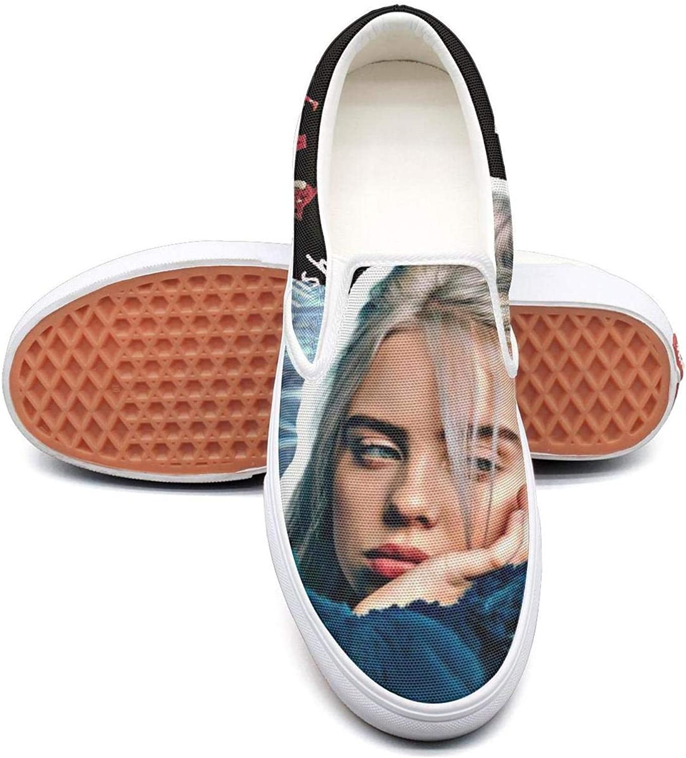 Merry-XMAS Fashion Sneakers Billie-Eilish for Woman Print Shock Absorption Running shoes