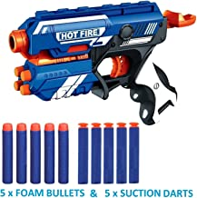 The Flyer's Bay Foam Blaster Gun Toy, Safe and Long Range, 10 Bullets
