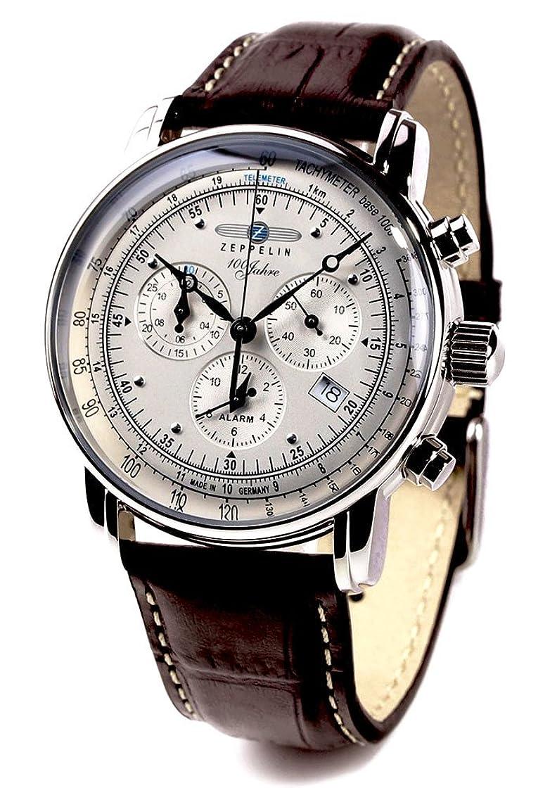 純粋な新鮮な貫通するZEPPELIN(ツェッペリン) 腕時計 ツェッペリン100周年記念モデル アイボリー×ブラウン 7680-1 メンズ [並行輸入品]