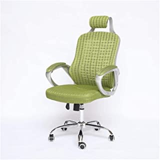 Executive Swivel Office Chair Green Paint Pillow Mesh Swivel Chair, Home Office Chair Computer Chair,Home Chair, Racing Ch...