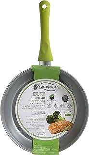 San Ignacio SARTEN 20cm Antiadherente con Mango Soft Touch Lima, Acero, Verde, 20 Centimeters