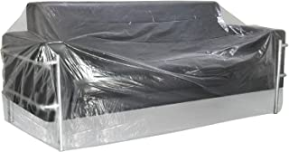 TUPARKA Furniture Cover Plastic Bag for Moving Protection and Long Term Storage, Sofa Cover Water Resistant, 110 x 72 inches