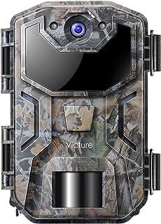 Victure Cámara de Caza Nocturna 20MP 1080P con Diseño Impermeable IP66 Cámara de Fototrampeo con Detección de Acción LED I...