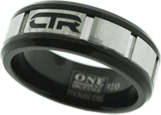 One Moment In Time J182 Size 8-13 ACE Stainless Steel Ring Mormon CTR LDS