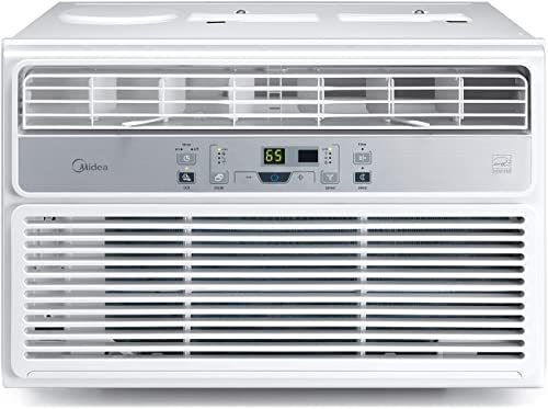 MIDEA MAW12R1BWT 12,000 BTU EasyCool Window Air Conditioner, Fan-Cools, Circulates, and Dehumidifies Up to 550 Square...