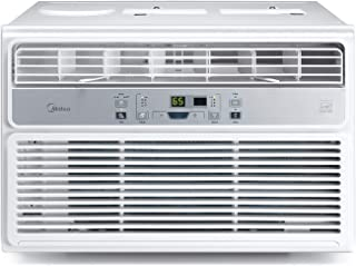 MIDEA EasyCool Window Air Conditioner - Cooling, Dehumidifier, Fan with remote control - 12,000 BTU, Rooms up to 550 Sq. Ft. (MAW12R1BWT Model)