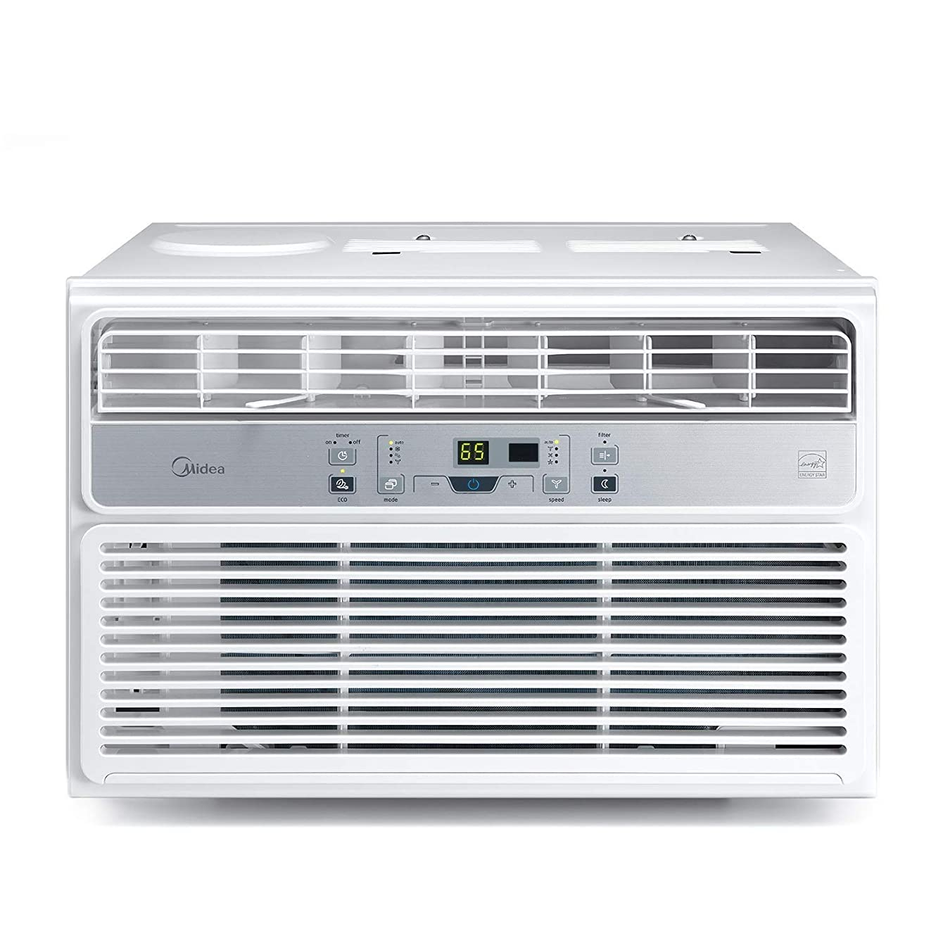 MIDEA MAW10R1BWT Window Air Conditioner 10000 BTU Easycool AC (Cooling, Dehumidifier and Fan Functions) for Rooms up to 450 Sq, ft. with Remote Control, 10,000, White yxfdmayikxfce00
