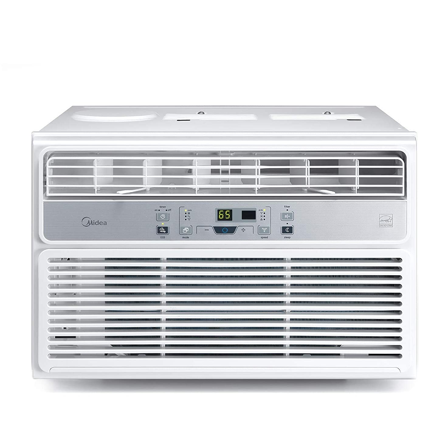 MIDEA MAW10R1BWT Window Air Conditioner 10000 BTU Easycool AC (Cooling, Dehumidifier and Fan Functions) for Rooms up to 450 Sq, ft. with Remote Control, 10,000, White edkhswjvwxogt9
