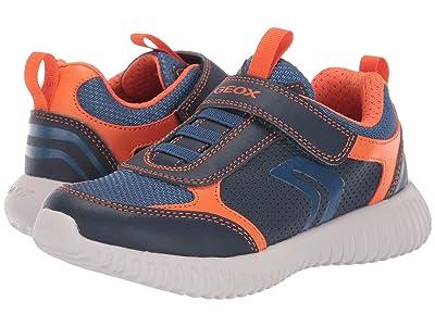 Geox Kids Jr Waviness 12 (Little Kid/Big Kid) (Navy/Orange) Boys Shoes