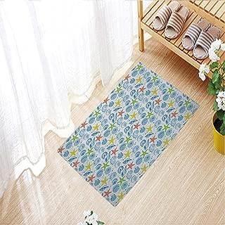 Color Printed mats Anti-Slip Floor Mat Soft for Living Room Indoor Bedroom,31.5