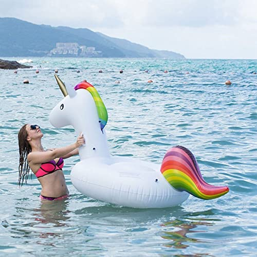 GTT Flotador de piscina unicornio / Unicorn Swim Ring / Unicorn Flotadores de natación / Adultos
