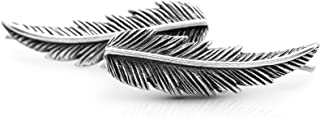 Feather Cuff Climber Earrings 925 Sterling Silver Tribal Boho Chic