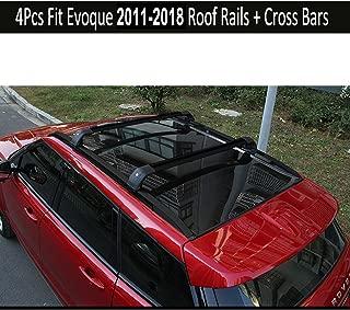 KPGDG Fit for Land Rover Range Rover Evoque 2011-2018 4Pcs Aluminium Roof Rail Roof Rack Cross Bars Crossbar - Black