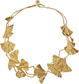 Tory Burch Ginkgo Leaf Short Necklace