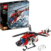 LEGO Technic - Helicóptero de Rescate, maqueta de juguete detallada para construir y crear aventuras en el aire (42092)