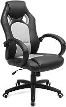 SONGMICS Racing stoel bureaustoel gaming stoel managersstoel PU, zwart-grijs, OBG56BG