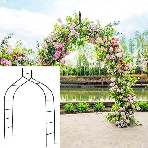lowest Giantex Metal Garden Arbor Wedding Arch, 8.4 Ft High x discount 4.6 Ft Wide, Pergola Arbor for Climbing Plant Roses Vines, Indoor Outdoor Garden Patio Bridal Party high quality Decoration Wedding Arch (1) sale