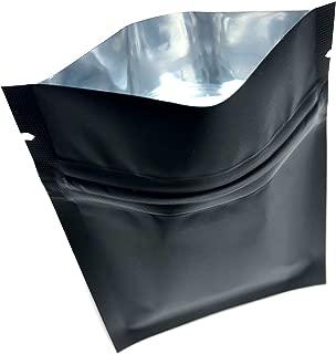 black foil ziplock bags