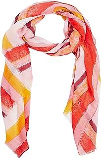 Raw Edge Stripe Printed Scarf For Women - One Size Closet by Styli