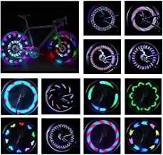 Bike Wheel Lights,BYPA Bicycle Wheel Light LED Waterproof Spoke Lights Bicycle Color Led Lights for Kids Adults-14Led 30Patterns -Ultra Bright, Visible from All Angles,Automatic & Manual Dual Switch