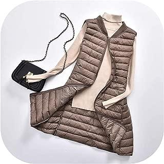 Surprise S Ultra Light Duck Down Vest Women Casual Duck Down Vest Jacket Autumn Winter V Neck