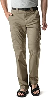 CQR Men's Convertible Pants Zip Off Stretch Durable UPF 50+ Quick Dry Cargo Shorts Trousers