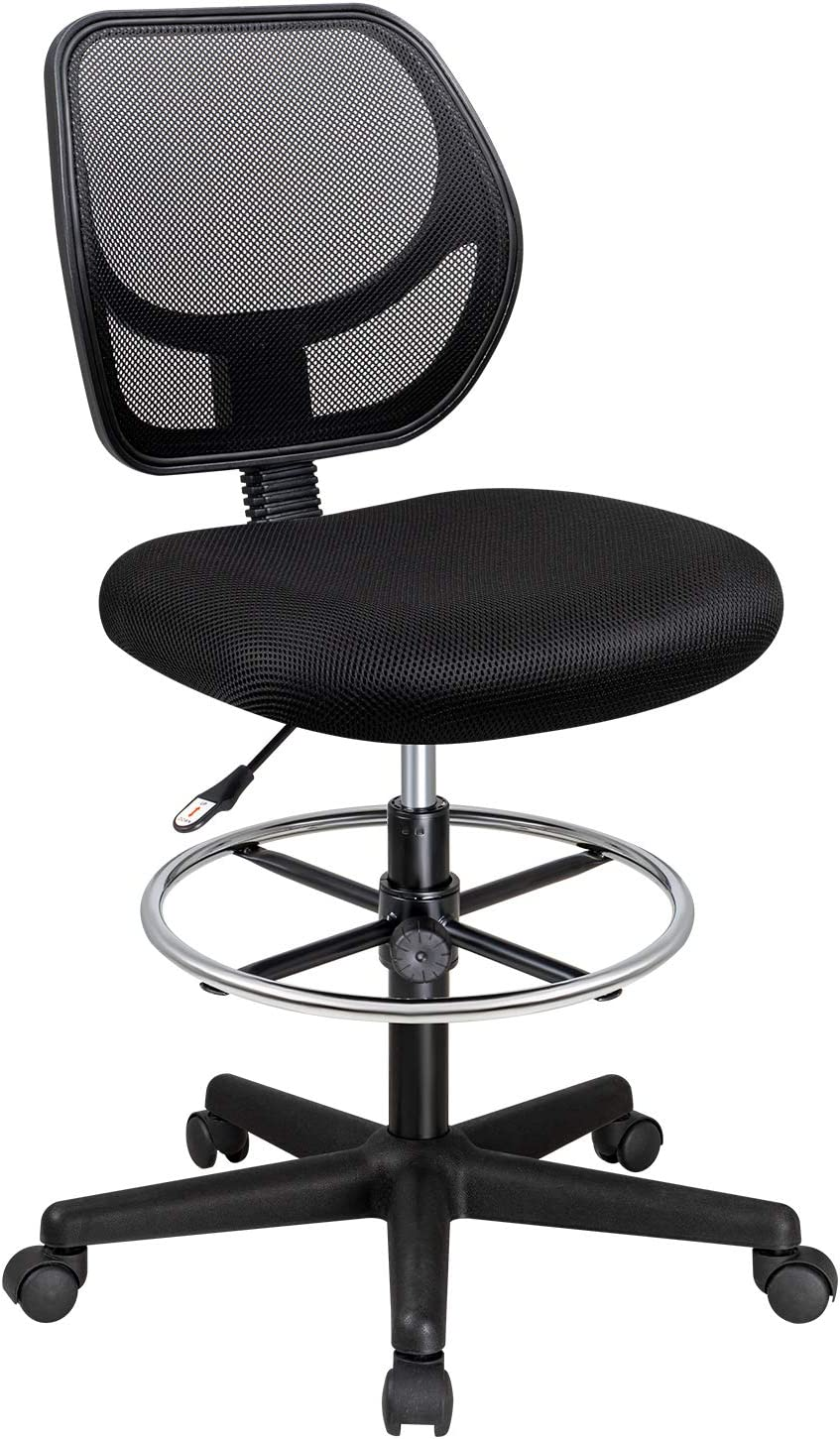 Furmax Mesh Office Drafting Chair discount Foot Tall Adjustable with Very popular Ring