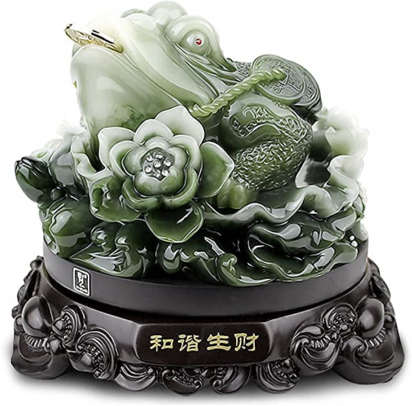 Feng Shui Money Frog Money Toad Statue Best Housewarming Congratulatory Attract Wealth And Good Luck Feng Shui Decor