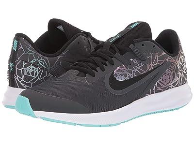 Nike Kids Downshifter 9 Rebel (Big Kid) (Anthracite/Black/Light Aqua) Girls Shoes