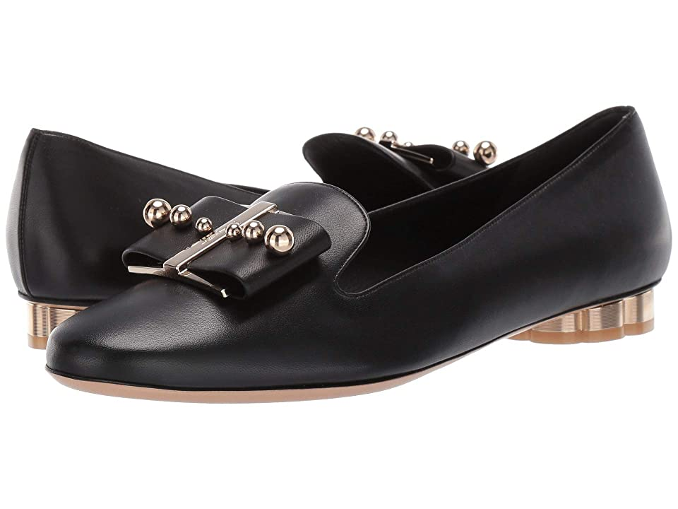 Salvatore Ferragamo Sarno Pearl Loafer (Nero New Nappa) Women