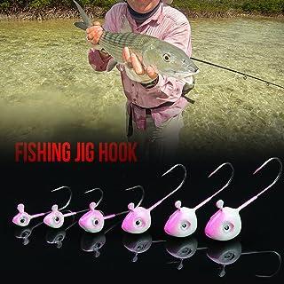 Lixada 10 PCS Fishing Hooks Jig Head Lure Simulation Bait Fishhook Barbed Single Hook Fishing Tool Tackle 0.5g / 1g / 2g /...