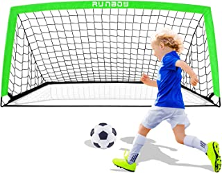 RUNBOW 6'6''X 3'3'' Portable Kids Soccer Goals for...