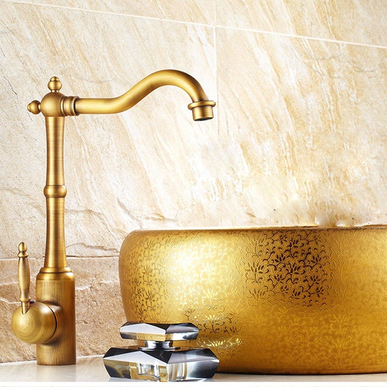 Küche mit herausziehbarer Dual-Spülbrause,Kaltes Heies Wassert Tout le cuivre antique art bassin robinet Farbe rétro cuisine lavabo robinet matériel de salle de bains construction robinet