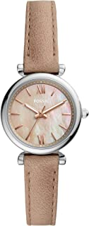 Women's Carlie Mini Stainless Steel and Leather Quartz Watch